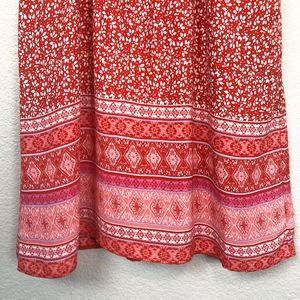 GAP Dresses - Gap Dress A Line Sleeveless Floral Red sz M